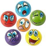 ZYDTRIP Emoji Squishy Spielzeugball, 6 Stück Stressabbaukugel Anti-Stress-Spielzeugkugeln für...