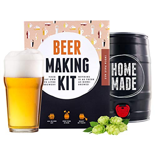 BrewBarrel BrauFässchen | Kit Premium per Fare la Birra a casa | Kit Fare la Birra Artigianale Stile IPA | Crea la Tua Birra Artigianale Fatta in casa | Regalo Originale - by Braufässchen