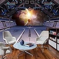 カスタム壁画壁紙3Dステレオ宇宙船星空宇宙3D背景壁の装飾リビングルームKTVバー壁紙フレスコ画