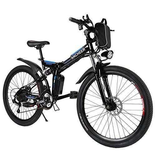 ANCHEER E-Bike Elektrofahrräder E Klapprad , 36V Akku, 26 \'\' faltbares Elektrofahrrad mit 250W Motor und 21 Gang-Schaltung, Pedelec für Herren und Damen