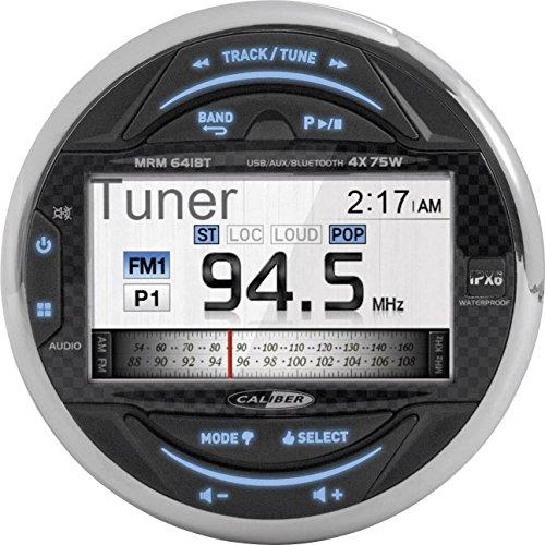 Caliber MRM641BT Wasserdicht Marine Bluetooth Radio FM AM, USB, Boot Stereo Audio MP3 Player Schwarz
