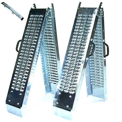 D+L GmbH 1 Paar Stahl Auffahrrampe 180cm 400kg klappbar 06059 Laderampe Auffahrschiene, Rampe Faltbare Rampe, AWZ