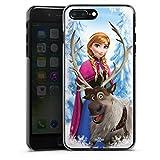 Coque Compatible avec Apple iPhone 7 Plus Étui Housse Disney La Reine des Neiges Anna & Sven Cadeaux pour Supporters