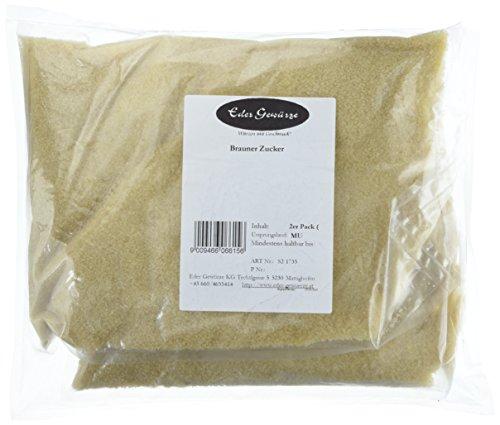 Eder Gewürze - Brauner Zucker - 1 kg, 2er Pack (2 x 1 kg)