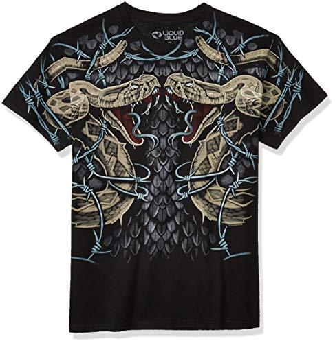 Liquid Blue Men's Rattler Strike T-Shirt, Black, Large