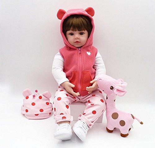 OtadDolls 18inch 45cm Reborn Femmina Tutta in Silicone Lavabile Baby Doll realistica Toddler Girl bambolotti Giocattolo Magnetico