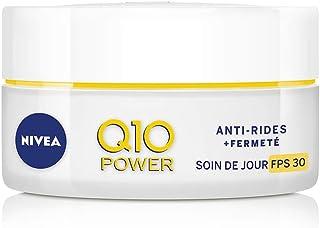 NIVEA Q10 Power Soin de Jour Anti-Rides + Fermeté FPS30 (1x50ml), crème anti-âge enrichie en Q10 & avec 10X plus de créati...