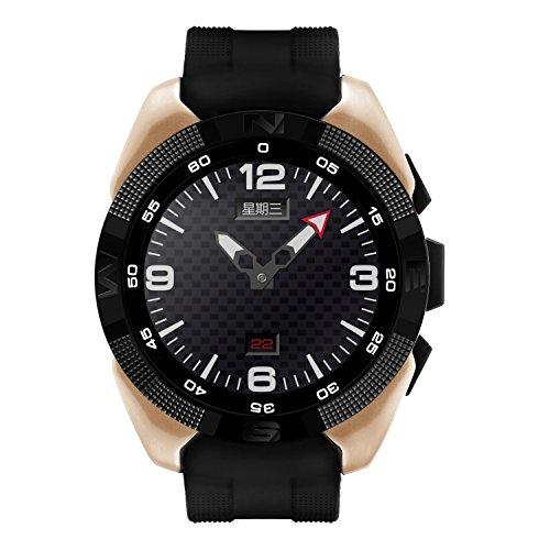 Shuusisses Reloj Bluetooth NiñaReloj Bluetooth Musica/Reloj Deportivo - Reloj Inteligente Watch / INTG5 Sincronice El Listín De Teléfonos SMS SMS Oportuno Recordatorio - Oro