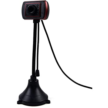 USB 2.0 Webcam with Mic, 480P Driver-Free Computer Laptop Gooseneck Web Camera Stand for Gaming Video Conferencing Calling Live Streaming
