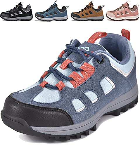 MARITONY Kinderschuhe Jungen Mädchen Kinder Schuhe Wanderschuhe Trekkingschuhe Sportschuhe Laufschuhe Turnschuhe Sneaker, Rauch Blau 27 EU