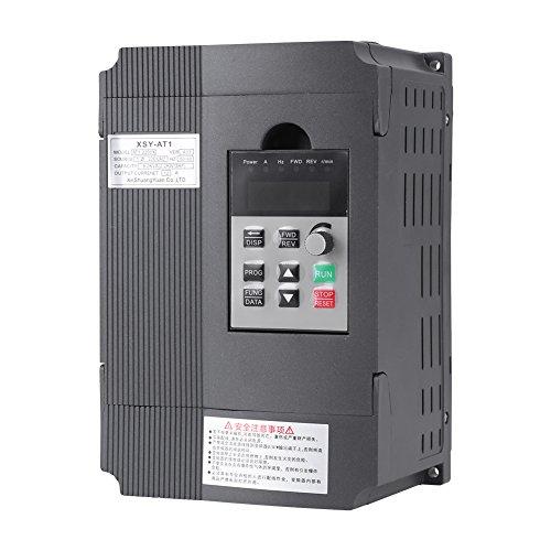 Controlador de Velocidad VFD con Variador de Frecuencia Inversor de Giro 2.2KW 3HP 220V 12A