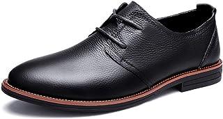 Kirabon Zapatos Casuales de Cuero para Hombres (Color : Negro, Size : 45)