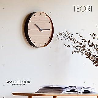 【TEORI テオリ】WALL CLOCK -ウォールクロック- P-WC 竹無垢 日本製