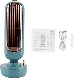 Mini Oscillating Tower Fan,Portable Electric Desk Fan Quiet Personal Cooling Humidification USB Table Fan,3 Speeds Desktop...
