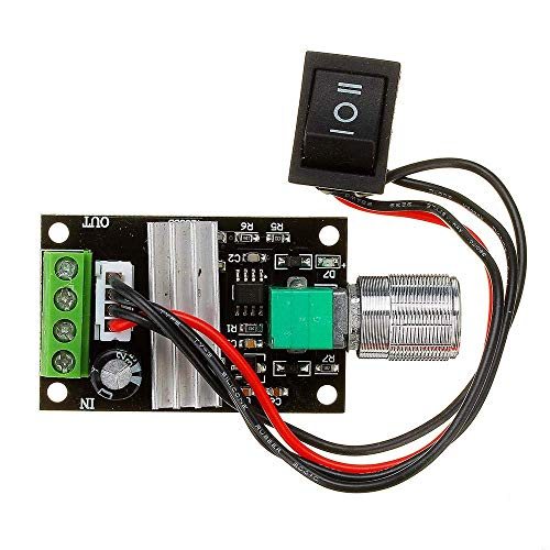 Manyao 3pcs DC 6V 12V 24V 28V 3A 80W PWM Motor Speed Controller Regulator Adjustable Speed Variable Control Switch Driver Modules
