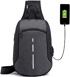 Sport Sling Bag - Totech Crossbody Backpack with USB Charging Port for Women & Men
