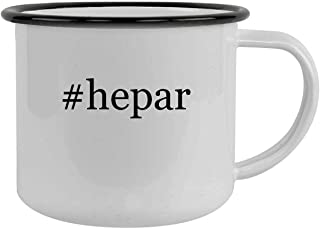 #hepar - 12oz Hashtag Camping Mug Stainless Steel, Black