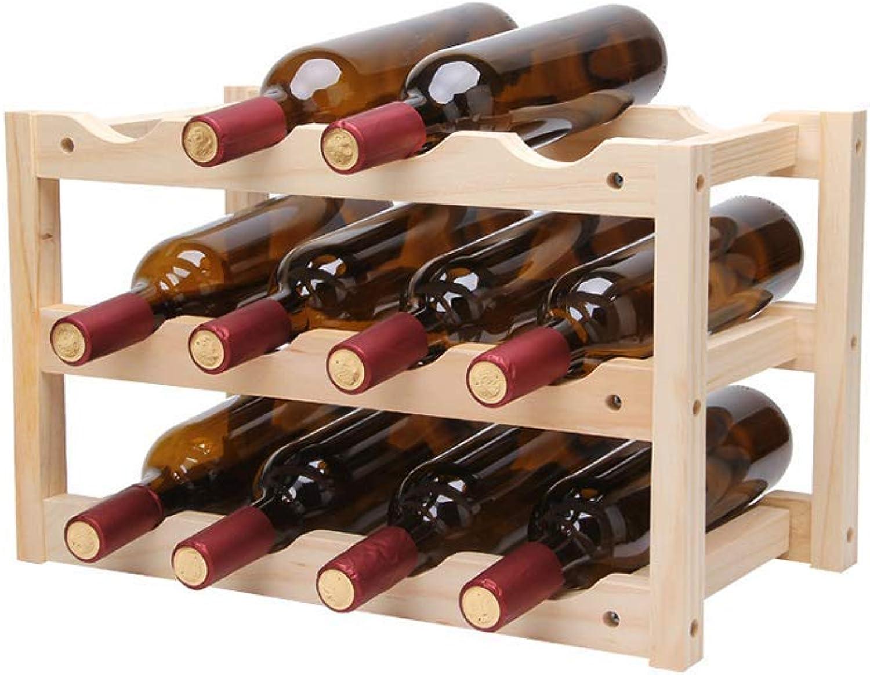 Red Wine Shelf Wine Shelf Wine Rack Bar Wine Bottle Rack Household Wine Cooler Wooden Display Stand Restaurant Creative