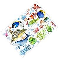 IMIKEYA ダーク海壁ステッカー海洋クリーチャー蛍光ステッカー海世界水中動物壁の装飾デカール子供のための寝室保育園1セット