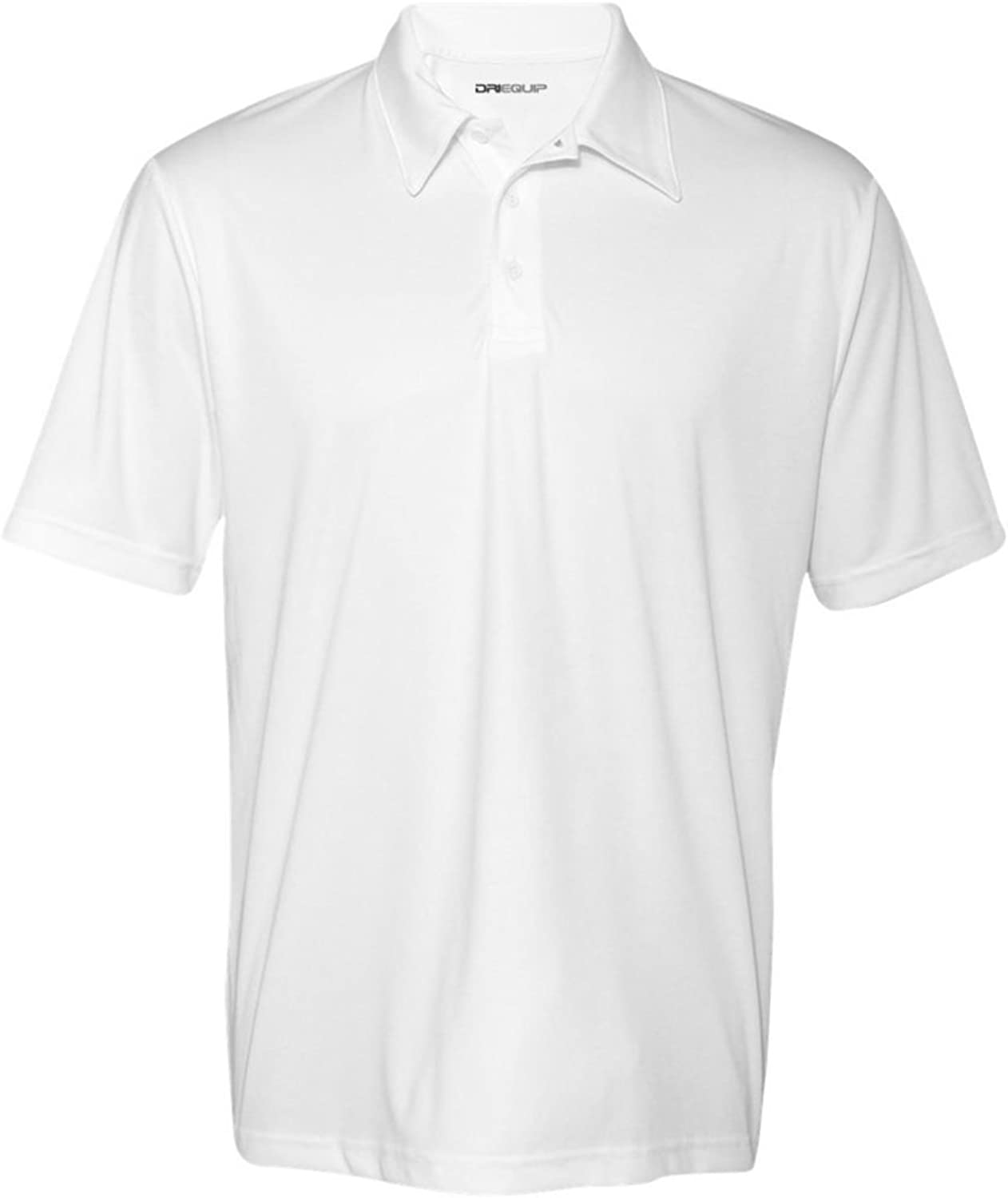 DRI-EQUIP Dry-Wicking Performance Mesh Polos in 12 colors. Mens XS-3XL