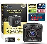 Mini Spy Camera,1080P Hidden Camera,Portable Nanny Cam,Small Hidden Camera Spy Wireless,Tiny Spy Cam with Night Vision Motion Detection,Secret Camera for Home,Car,Office (Black)