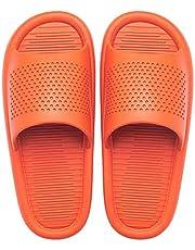 Zomer douche schoenen Zomerhuis Heren Damesmode Badkamer Sandalen, Huishoudelijke Slippers Unisex Bad Antislip Paar Schoenen Oranje EU37-38