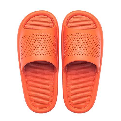 MDCGL Piscina Slide Zapatilla BañO Casa de Verano Sandalias de baño de Moda para Hombres y Mujeres, Zapatillas para el hogar Zapatos de Pareja Antideslizantes de baño Unisex Naranja EU39-40