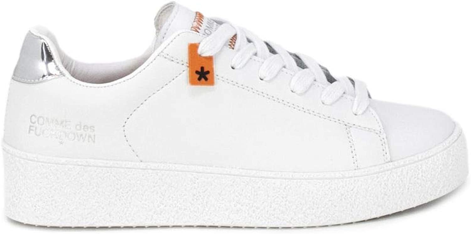 COMME DES FUCKDOWN Women's CDF14STREETWHT White Polyester Sneakers