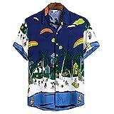 SSBZYES Camisas De Hombre Camisas De Verano De Manga Corta Camisetas De Hombre Tops De Hombre Camisas De Solapa De Manga Corta De Algodón Camisas Casuales De Algodón para Hombre