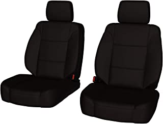 Front Seats: ShearComfort Custom Waterproof Cordura Seat Covers for Toyota Tacoma (2016-2019) in Black for Buckets w/Adjustable Headrests