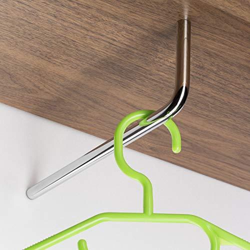 Sotech Garderobenstange Norma II 230 mm Ø 12 mm Chrom poliert L-Form Kleiderbügelstange von SO-TECH®