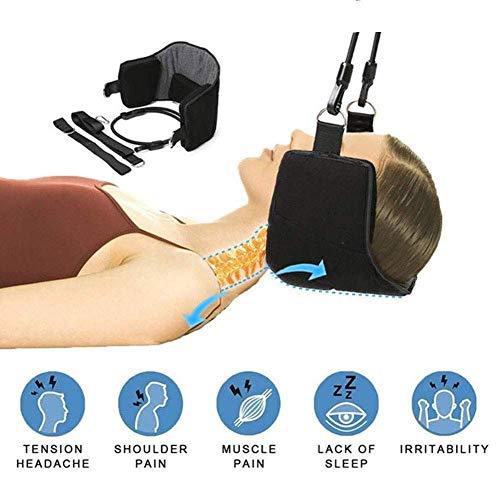 MLYZ Beweglicher Hals entspannender kampierender Yoga-Hängematten-Stuhl-Nackenmassagegerät Schaum Nickerchen Kissen Kissen Schaukel-Hängematte für Nacken- und Schulterschmerz