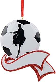 MAXORA Personalized Soccer Ornament for Christmas Tree Decor - Free Customization