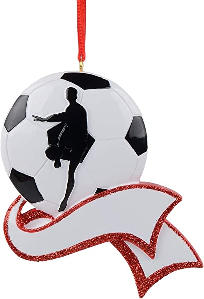 MAXORA Personalized Soccer Ornament For Christmas Tree Decor Free Customization