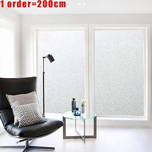 200cm * 45/60/90 frosted glasfolie geen lijm zelfklevende vinyl statische vastklampen privacy glazen deur sticker badkamer voor home decor, w 60cm l 200cm