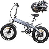 Faltbar Elektrofahrrad Elektrisches Mountainbike 500W 20-Zoll-Fettreifen withScheibenbremsen ebike...
