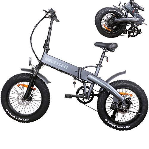 Faltbar Elektrofahrrad Elektrisches Mountainbike 500W 20-Zoll-Fettreifen withScheibenbremsen ebike 7-Gang-e Bike ausgestattet mit herausnehmbarer 48V Lithiumbatterie, Das ganze Fahrrad ist wasserdicht