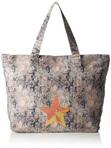 s.Oliver (Bags Damen 31.605.94.6100 Shopper, Orange (orange AOP 20A1), 58x40x20 cm