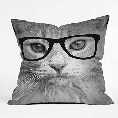 Deny Designs Allyson Johnson Hippest Cat Indoor Throw Pillow, 18
