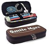 Estuche de lápices de cuero Smile-More Útiles escolares para niños y adultos Gilrs