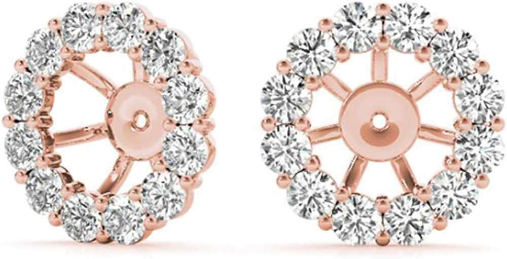 Natural Diamond Earring Jackets in 14k Gold (1.00 cttw, G-H, SI2-I1)