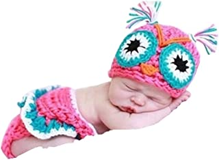 Newborn Owl Infant Baby Knit Crochet Handmade Photography Photo Props