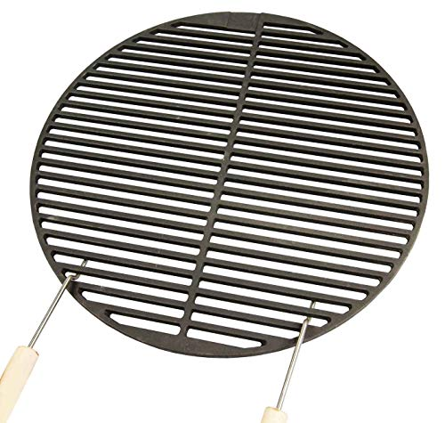 AKTIONA Gusseisen Grillrost Ø 34,5 cm + 2 Griffe für 37er Kugelgrill