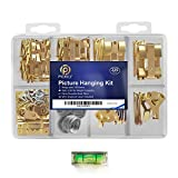 Pickily Premium 225 Piece Picture Hanging Kit, Assorted Picture Hangers Includes Nails, Hanging Wire, Screw...