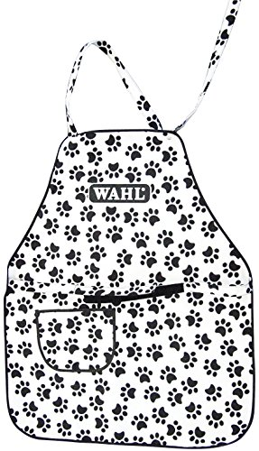 Wahl Professional Animal Paw Print Grooming Apron #97780-001, White and Black