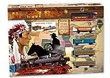 Servicios E Industrias Del Juguete - Tren Far West metálico con luz, 68 x 53 x 44 cm