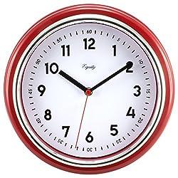 Equity by La Crosse 20867 11.5 inch Red Retro Wall Clock