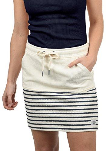 DESIRES Pippa Damen Kurzer Rock Sweatrock Minirock Mit Streifen-Muster Aus 100% Baumwolle, Größe:L, Farbe:Insignia Blue (1991)
