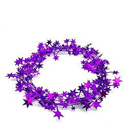 Purple wire garland