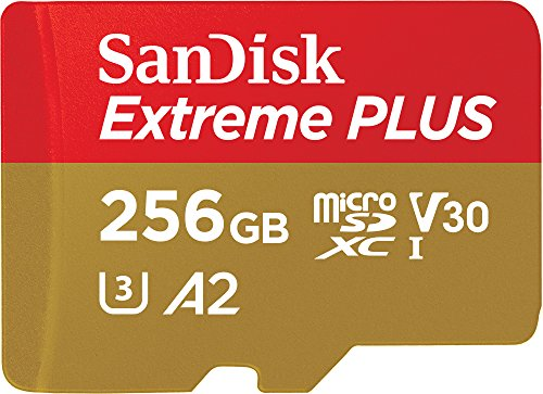 SanDisk Extreme Plus 256GB microSDXC Memory Card and SD Adapter with App Performance A2 and Rescue Pro ...